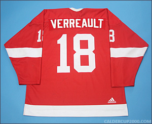 2010-2011 game worn Francis Verreault-Paul McGill Redmen jersey