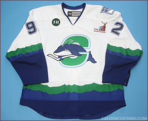 2012-2013 game worn Christian Thomas Connecticut Whale jersey