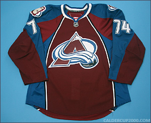 2009-2010 game worn Kelsey Tessier Colorado Avalanche jersey