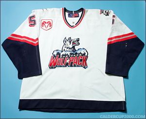 2000-2001 game worn Peter Smrek Hartford Wolf Pack jersey