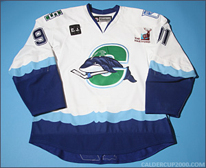 2010-2011 game worn Evgeny Grachev Connecticut Whale jersey