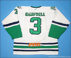 2012-2013 game worn Ed Campbell Danbury Whalers jersey