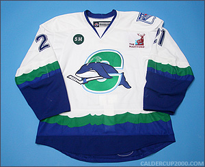 2012-2013 game worn Andrew Yogan Connecticut Whale jersey