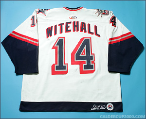 2000-2001 game worn Johan Witehall Hartford Wolf Pack jersey