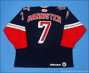 1999-2000 game worn Drew Bannister Hartford Wolf Pack jersey
