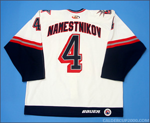 1999-2000 game worn John Namestnikov Hartford Wolf Pack jersey