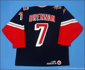 1998-1999 game worn Rich Brennan Hartford Wolf Pack jersey