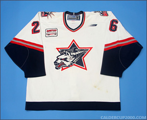 1998-1999 game worn Jeff Finley Hartford Wolf Pack jersey