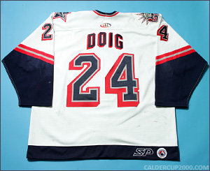 2000-2001 game worn Jason Doig Hartford Wolf Pack jersey