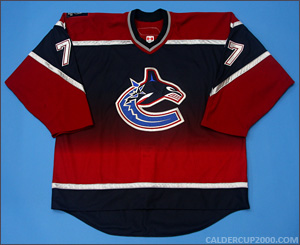 2005-2006 game worn Anson Carter Vancouver Canucks jersey