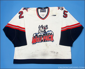 1997-1998 game worn Geoff Smith Hartford Wolf Pack jersey