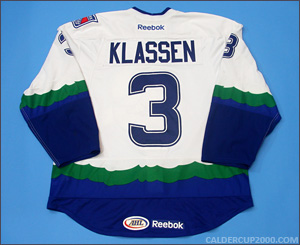 2012-2013 game worn Sam Klassen Connecticut Whale jersey