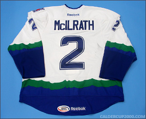 2012-2013 game worn Dylan McIlrath Connecticut Whale jersey