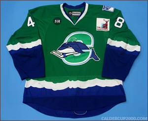 2012-2013 game worn Mike Vernace Connecticut Whale jersey