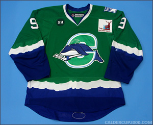 2012-2013 game worn Ryan Bourque Connecticut Whale jersey