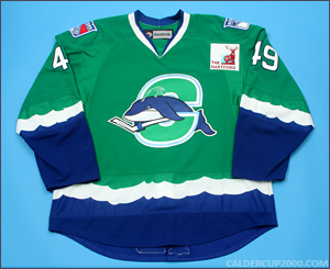 2010-2011 game worn Andrew Yogan Connecticut Whale jersey
