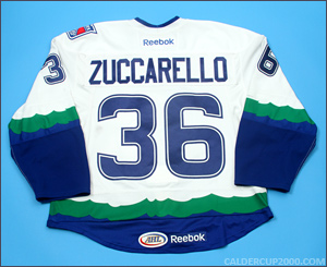 2011-2012 game worn Mats Zuccarello Connecticut Whale jersey