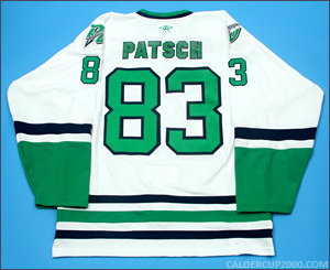 2013-2014 game worn Ryan Patsch Danbury Whalers jersey