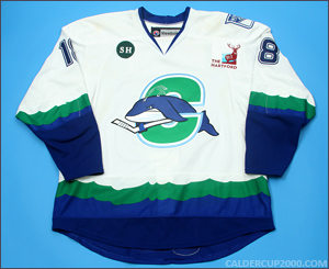 2012-2013 game worn Micheal Haley Connecticut Whale jersey