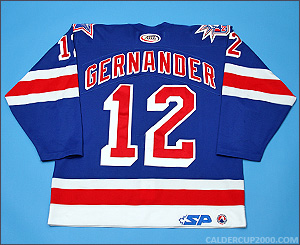 2003-2004 game worn Ken Gernander Hartford Wolf Pack jersey