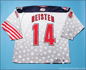 2001-2002 game worn Barrett Heisten Hartford Wolf Pack jersey