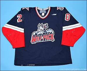 1997-1998 game worn P.J. Stock Hartford Wolf Pack jersey
