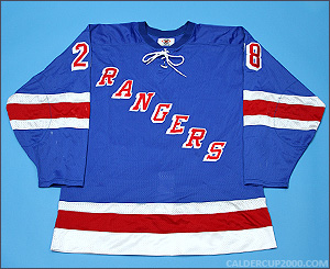 1997-1998 game worn P.J. Stock New York Rangers jersey