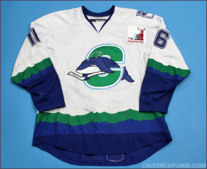 2012-2013 game worn Tommy Grant Connecticut Whale jersey