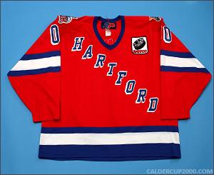 2000-2001 game worn Sonar Hartford Wolf Pack jersey