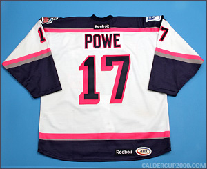 2013-2014 game worn Darroll Powe Hartford Wolf Pack jersey
