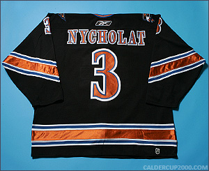 2005-2006 game worn Lawrence Nycholat Washington Capitals jersey