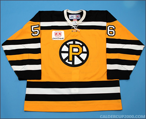 2005-2006 game worn Jonathan Sigalet Providence Bruins jersey