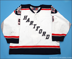 2003-2004 game worn John Jakopin Hartford Wolf Pack jersey