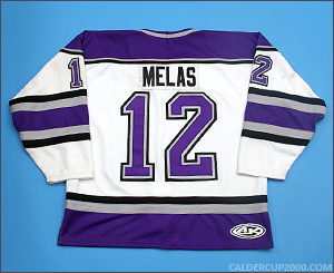 2000-2001 game worn Mike Melas New Haven Knights jersey