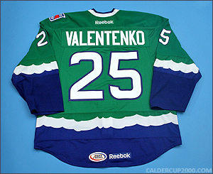 2011-2012 game worn Pavel Valentenko Connecticut Whale jersey