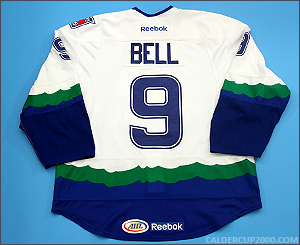 2011-2012 game worn Brendan Bell Connecticut Whale jersey