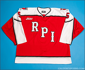 2012-2013 game worn Luke Curadi Rensselaer Engineers jersey
