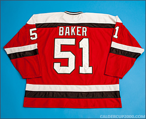 2011-2012 game worn Justin Baker St. Lawrence Saints jersey