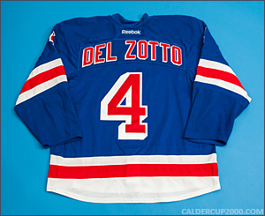 2011-2012 game worn Michael Del Zotto New York Rangers jersey