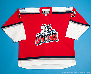 2013-2014 game worn J.T. Miller Hartford Wolf Pack jersey