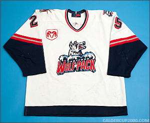 2000-2001 game worn Stefan Cherneski Hartford Wolf Pack jersey