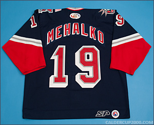 2001-2002 game worn Brad Mehalko Hartford Wolf Pack jersey