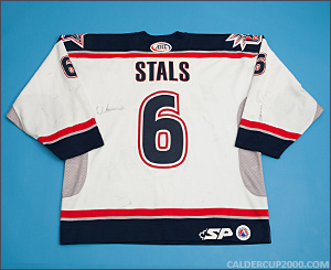 2003-2004 game worn Juris Stals Hartford Wolf Pack jersey