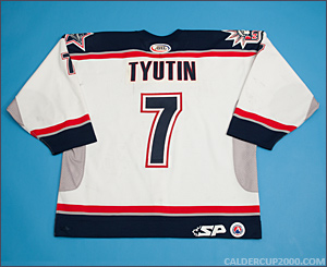 2003-2004 game worn Fedor Tyutin Hartford Wolf Pack jersey