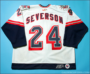 2001-2002 game worn Cam Severson Hartford Wolf Pack jersey