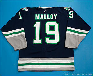 2010-2011 game worn Dan Malloy Danbury Whalers jersey