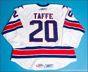 2009-2010 game worn Jeff Taffe Rochester Americans jersey