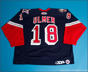 2003-2004 game worn Layne Ulmer Hartford Wolf Pack jersey