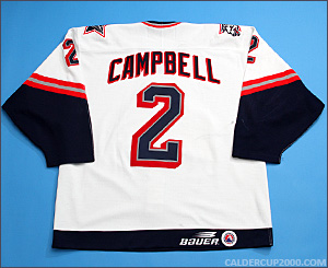 1998-1999 game worn Ed Campbell Hartford Wolf Pack jersey