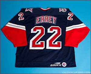 1998-1999 game worn Bob Errey Hartford Wolf Pack jersey